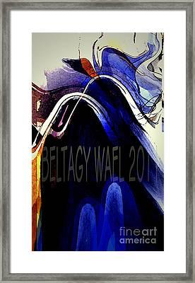 The Blue Wave Framed Print by Beltagy Beltagyb