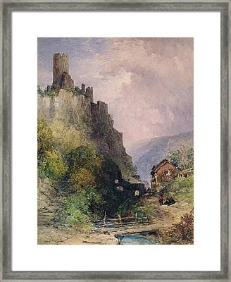 The Castle Of Katz On The Rhine Framed Print by William Callow