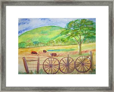 The Cattle Gap Framed Print by Belinda Lawson
