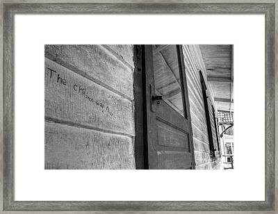 The Children Will Play  Framed Print by Lee Dos Santos