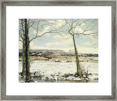 The Frozen Meadow Framed Print by Alexander Jamieson