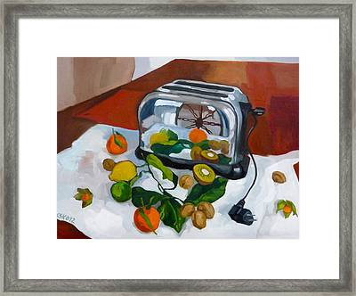 The Toaster Framed Print by Carmen Stanescu Kutzelnig