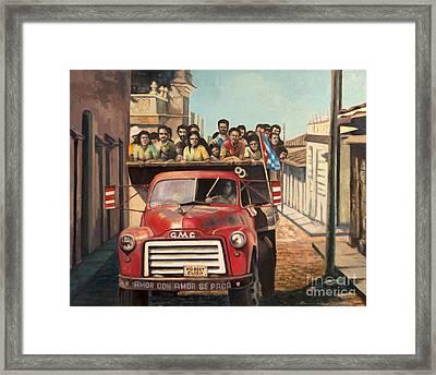 The Truck Framed Print by Makam  art