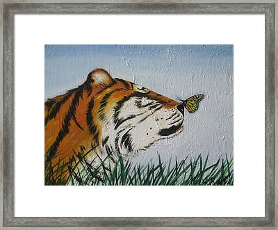 '' Tiger Colors'' Framed Print by Mccormick  Arts