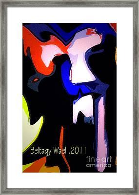 Tiger Face Framed Print by Beltagy Beltagyb