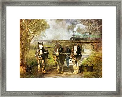 Under Our Own Steam Framed Print by Trudi Simmonds