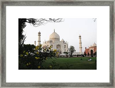 View Of Taj Mahal Framed Print