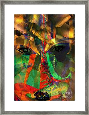 Viewing When Light Is On Framed Print