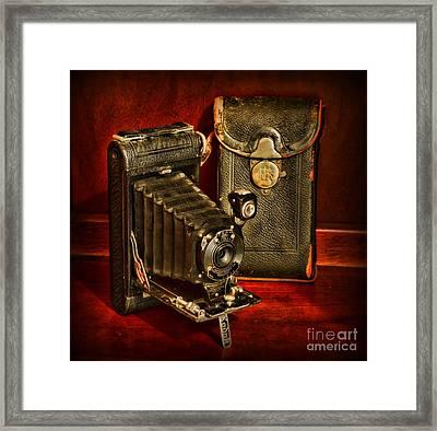 Vintage Pocket Kodak Camera Framed Print