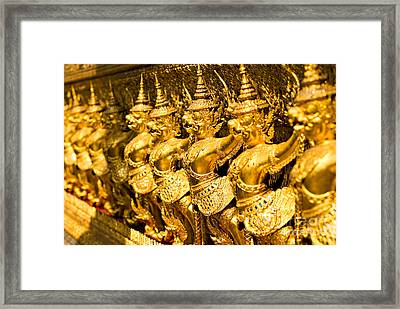 Framed Print featuring the photograph  Wat Phra Kaeo by Luciano Mortula