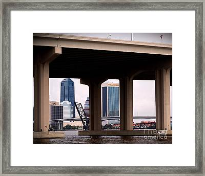 Welcome To Jacksonville Framed Print by Richard Burr