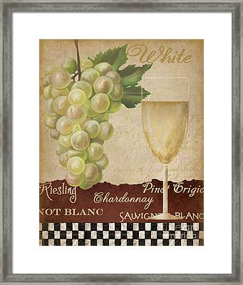 White Wine Collage Framed Print by Grace Pullen