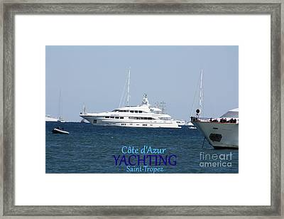 Yachting Framed Print by Rogerio Mariani