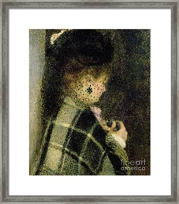 Young Woman With A Small Veil Framed Print by Pierre Auguste Renoir