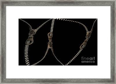 Zippers Framed Print by Odon Czintos