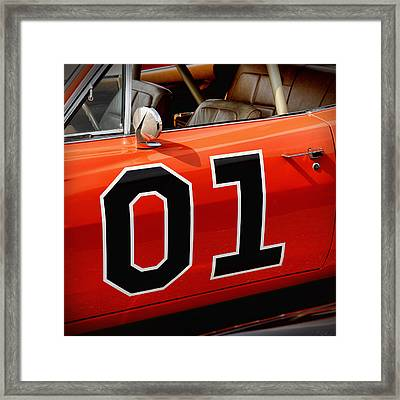 01 - The General Lee 1969 Dodge Charger Framed Print by Gordon Dean II