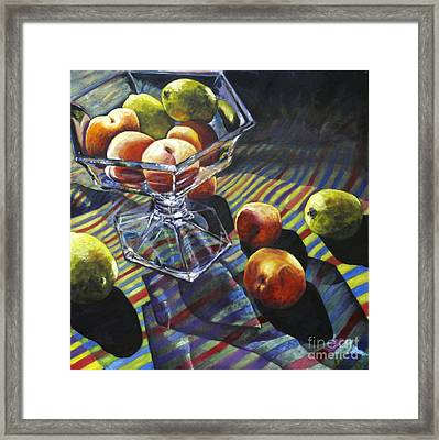 01083 Limes And Apricots Framed Print
