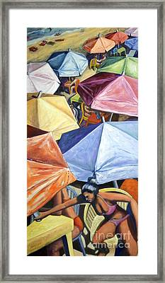 Framed Print featuring the painting 01138 Sunday by AnneKarin Glass