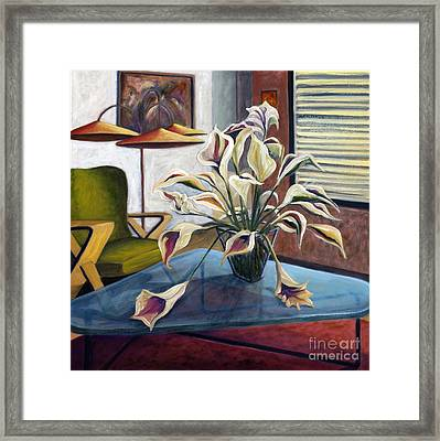 Framed Print featuring the painting 01254 Mid-century Modern by AnneKarin Glass