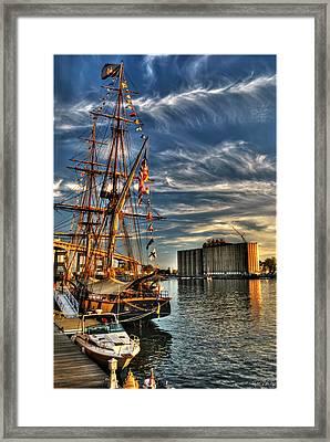 013 Uss Niagara 1813 Series Framed Print by Michael Frank Jr