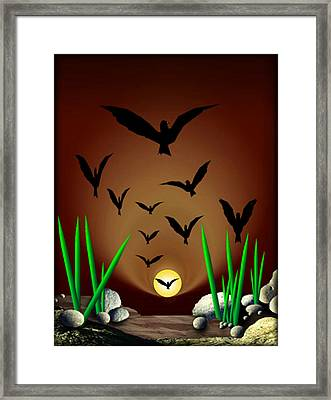 01904017col Framed Print by Michael Yacono