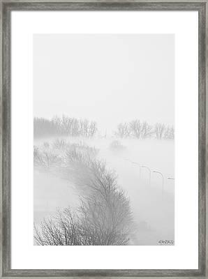 023 Buffalo Ny Weather Fog Series Framed Print by Michael Frank Jr