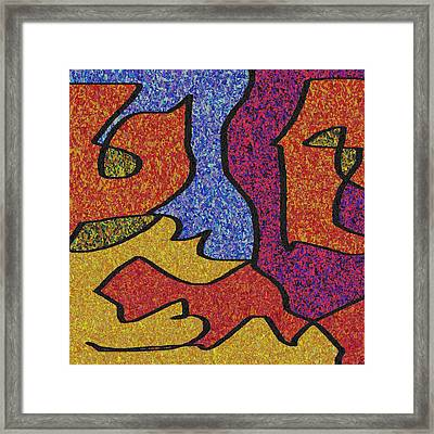 0664 Abstract Thought Framed Print by Chowdary V Arikatla
