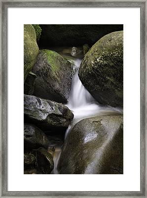 0706-0138 Smith Creek Rocks Framed Print by Randy Forrester