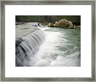 0804-0012 Six Finger Falls 1 Framed Print by Randy Forrester
