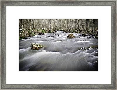 0804-0122 Rolling Creek Of The Ozark Mountains Framed Print by Randy Forrester