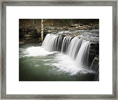 0805-005b Falling Water Falls 2 Framed Print by Randy Forrester