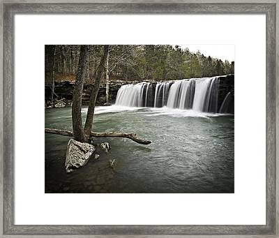 0805-0070 Falling Water Falls 3 Framed Print by Randy Forrester