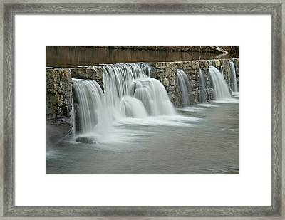 0902-7009 Natural Dam 2 Framed Print by Randy Forrester