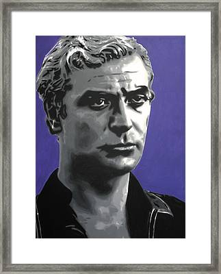 - Michael Caine - Framed Print by Luis Ludzska