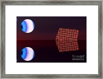 Planet Eye Framed Print by Odon Czintos