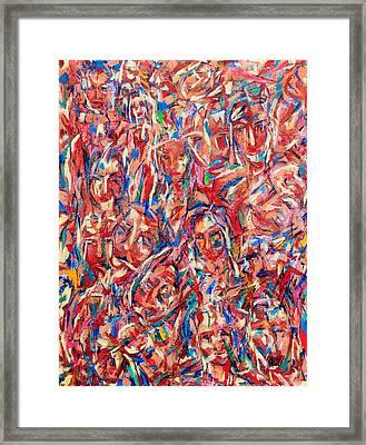 100 Mujeres 08 Framed Print by Bradley Bishko