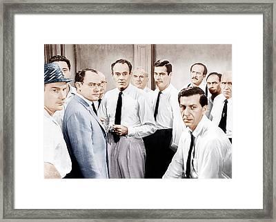 12 Angry Men, Aka Twelve Angry Men Framed Print by Everett