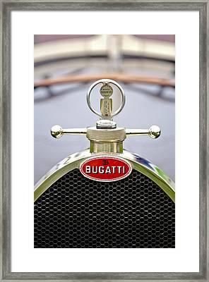 1923 Bugatti Type 23 Brescia Lavocat Et Marsaud Hood Ornament  Framed Print by Jill Reger