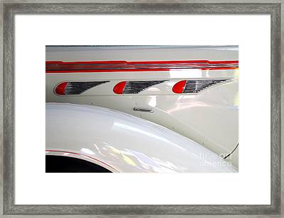 1936 Desoto Deluxe Airstream Taxicab Details Framed Print by Wingsdomain Art and Photography