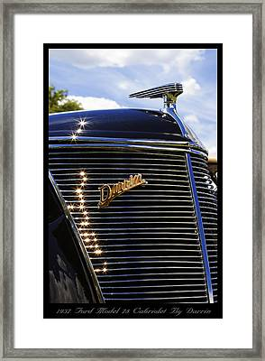 Framed Print featuring the photograph 1937 Ford Model 78 Cabriolet Convertible By Darrin by Gordon Dean II