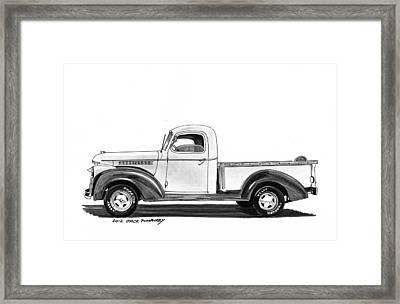 1946 Chevrolet Pick Up Framed Print by Jack Pumphrey