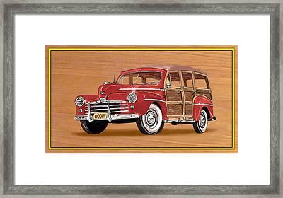 1946 Ford Woody Framed Print by Jack Pumphrey