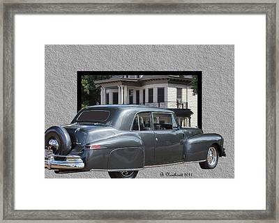 1947 Lincoln Continental Coupe Framed Print by Betty Northcutt