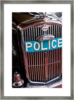 1954 Wolseley 6 80 Police Car Framed Print