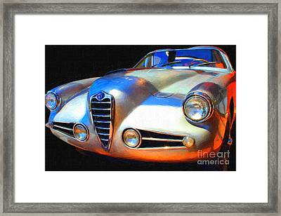 1955 Alfa Romeo 1900 Ss Zagato Framed Print by Wingsdomain Art and Photography
