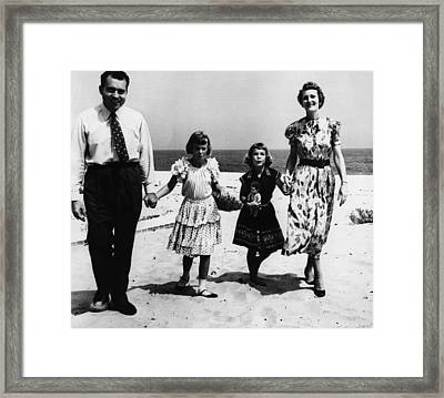 1956 Us Presidency, Nixon Family.  From Framed Print by Everett