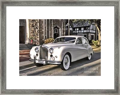 Framed Print featuring the photograph 1959 Jaguar by Elizabeth Coats