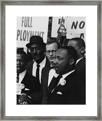 1963 March On Washington. Martin Luther Framed Print by Everett