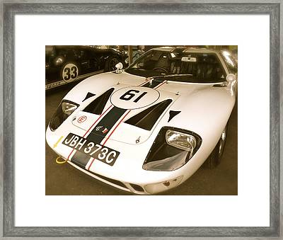 1965 Ford Gt40 Framed Print