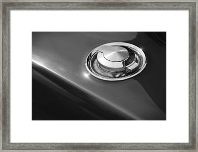 Framed Print featuring the photograph 1968 Dodge Charger Fuel Cap by Gordon Dean II